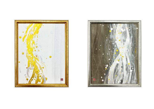 アートパネル 和風インテリア  ホテルインテリア 旅館インテリア アート 書道家 桑名龍希 抽象画