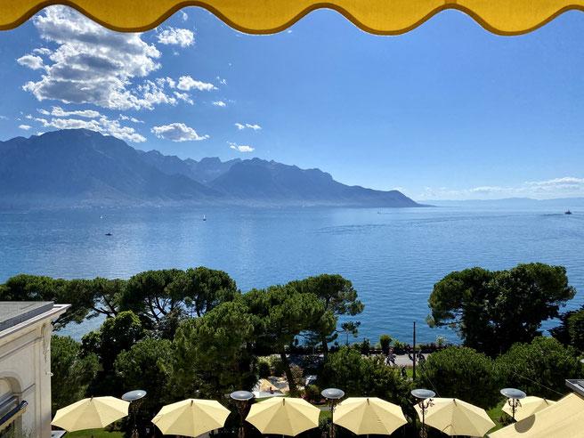 Grand Hotel Suisse Majestic, Blick auf den Genfer See, Lac Léman, Montreux