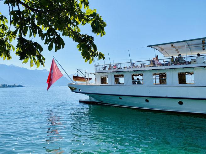 Belle Epoque Flotte Schaufelraddampfer la Suisse, Genfer See, Lac Léman