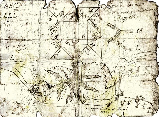 Le plan de Quaza ou Quazu vous permettra peut-être de partir à la recherche de l'or de la Dent-de-Vaulion