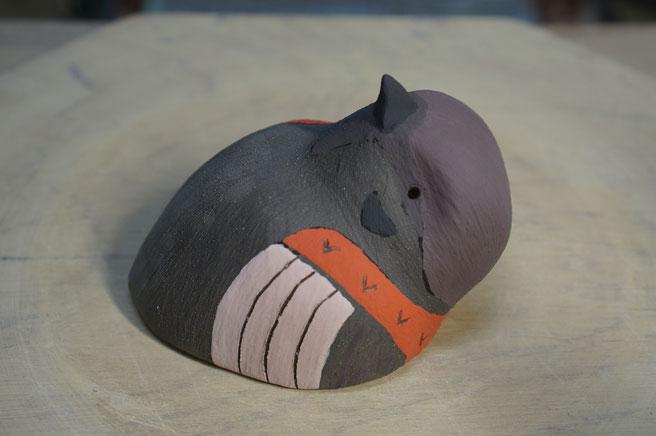 陶芸家 ブログ R工房 茨城県笠間市 野鳥 鳥 壁飾り 陶器 焼き物 スズメ 野鳥グッズ