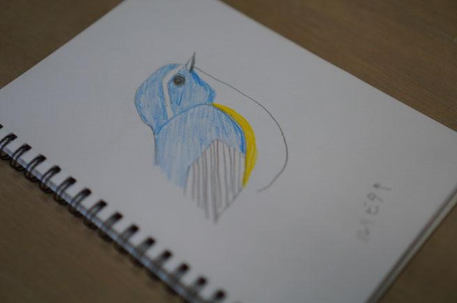 陶芸家 ブログ R工房 茨城県笠間市 野鳥 鳥 壁飾り 陶器 焼き物 ルリビタキ スケッチ 野鳥グッヅ