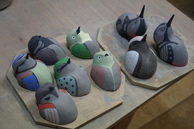 陶芸家 ブログ R工房 茨城県笠間市 野鳥 鳥 壁飾り 陶器 焼き物 野鳥グッズ