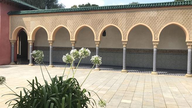 Die IGA gilt als Festival schönster internationaler Gartenkunst, hier ein Garten mit maurischem Einfluss