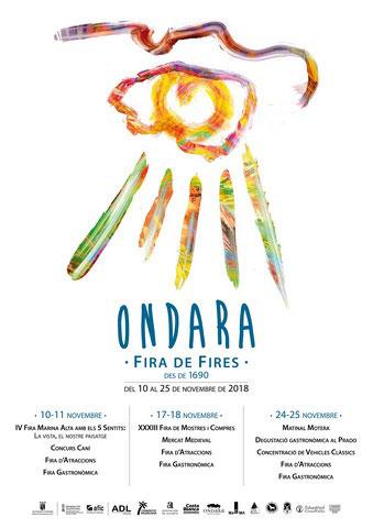 Programa de la Fira de Fires de Ondara