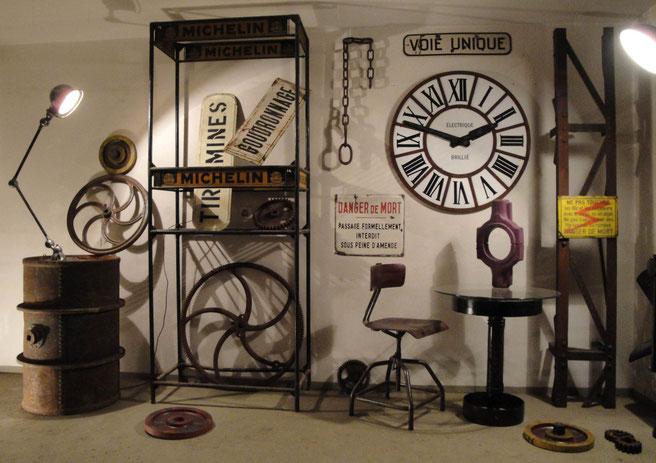 Ici quelques idées d'objets de style industriel