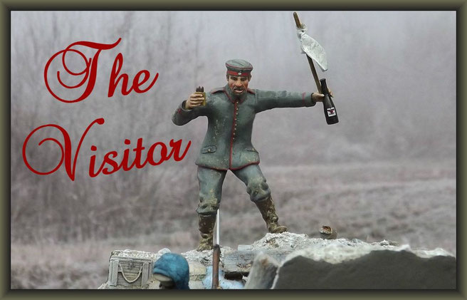Christmas Truce 1914 ; WWI Vignette ; 54mm Airfix Figure Conversion
