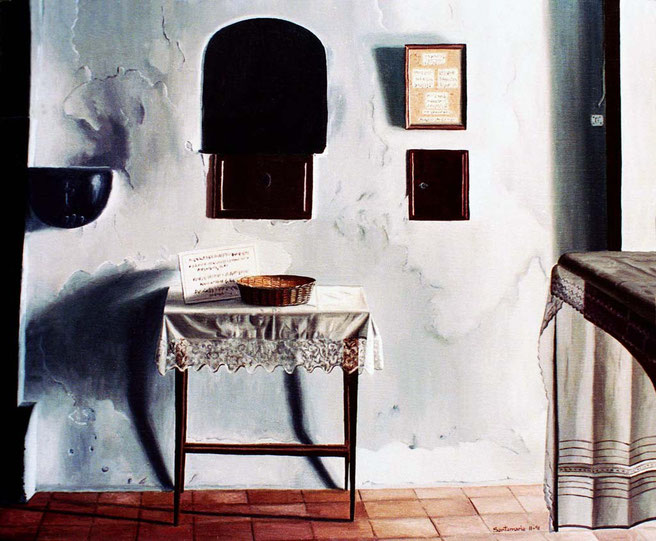 Capilla 1991, óleo sobre lienzo 50X60 cm