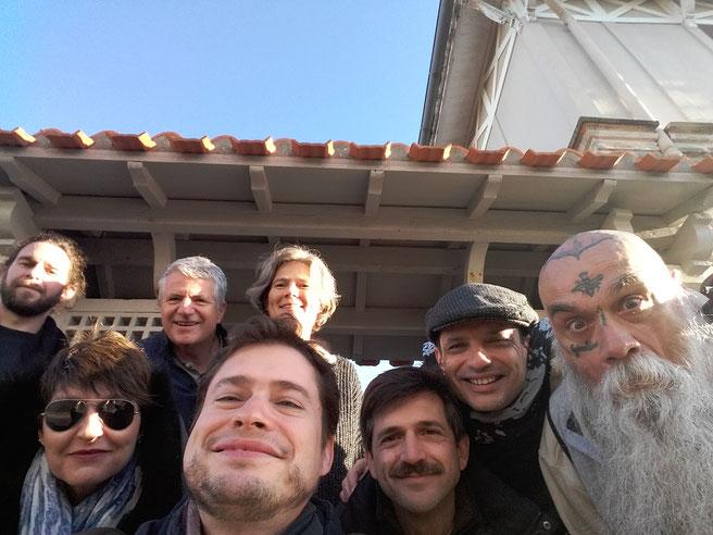 Petite photo de famille avec nos hôtes, Alix et Jean-Eudes, avant de repartir des Sables d'Olonne pour rentrer à Toulon !