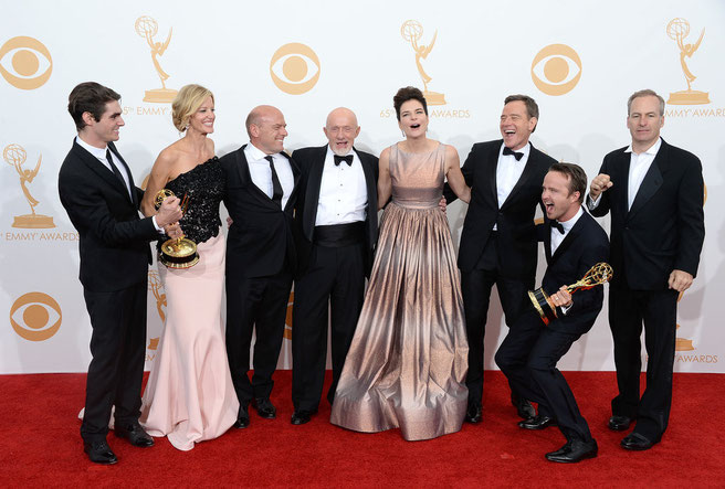 Reparto de 'Breaking Bad' durante los Premios Emmy 2014.