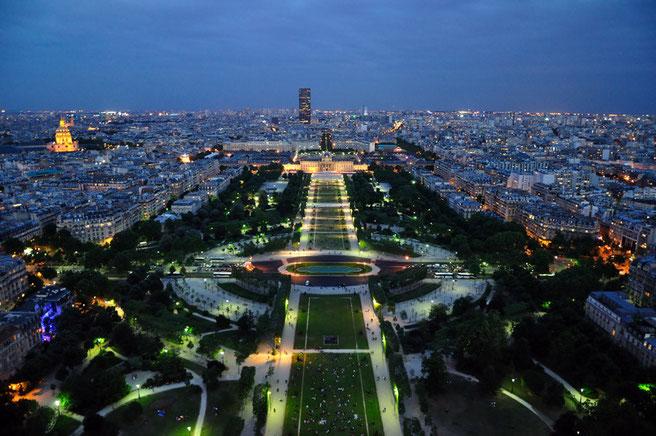 Vistas desde la Torre Eiffel / Fuente: www.paris.es.