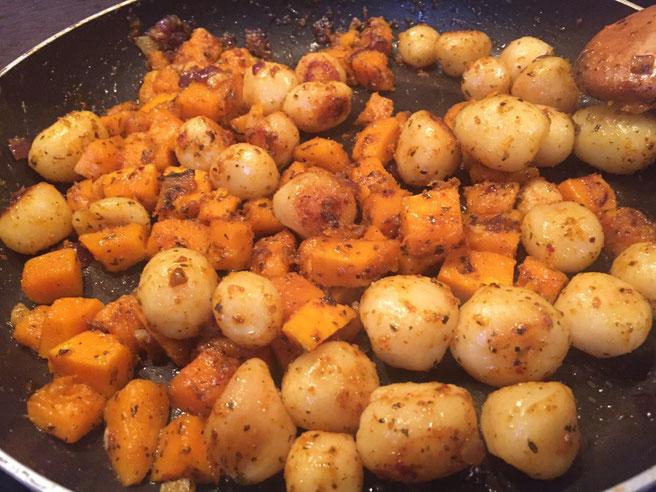 Bratkartoffeln mit Kürbis