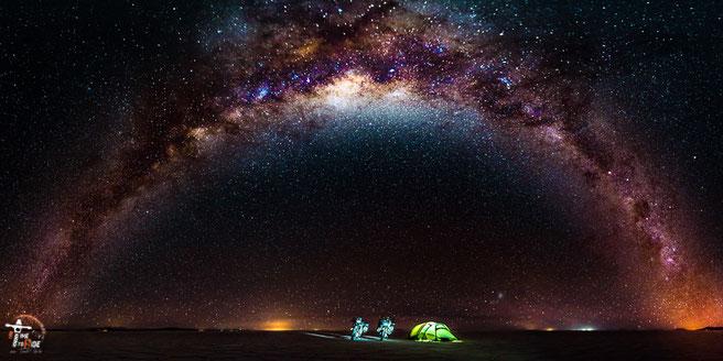 Andere schlafen unter 5 Sternen, wir unter einer Million.