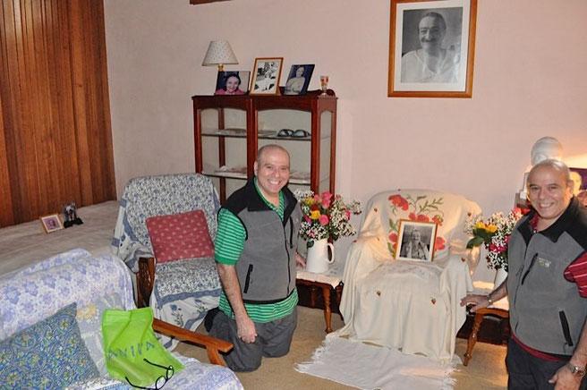 Rustom & Sohrab visit Meher House, mid 2012