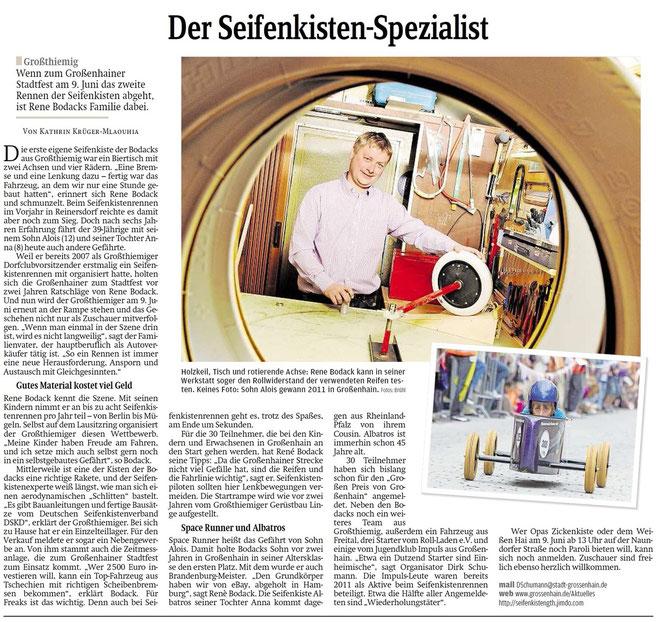 Quelle: Sächsische Zeitung (zum vergrößern auf das Bild klicken)