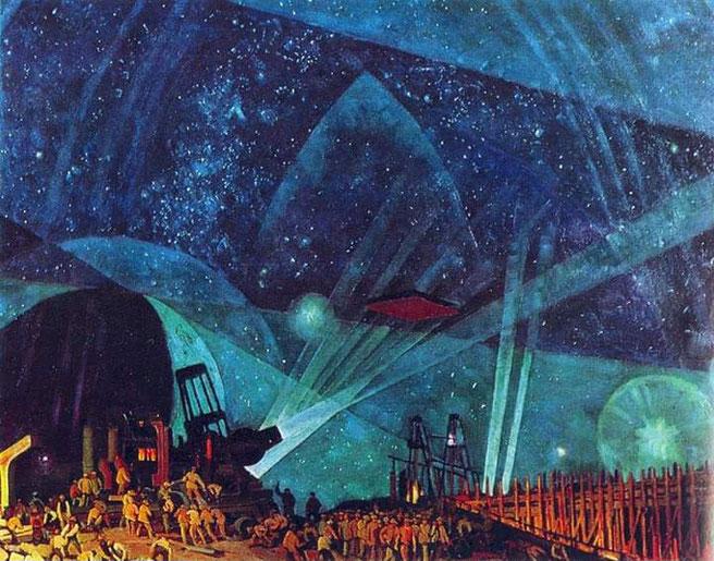 "Konstantin Yuon, ""New Planet"" (1921)"