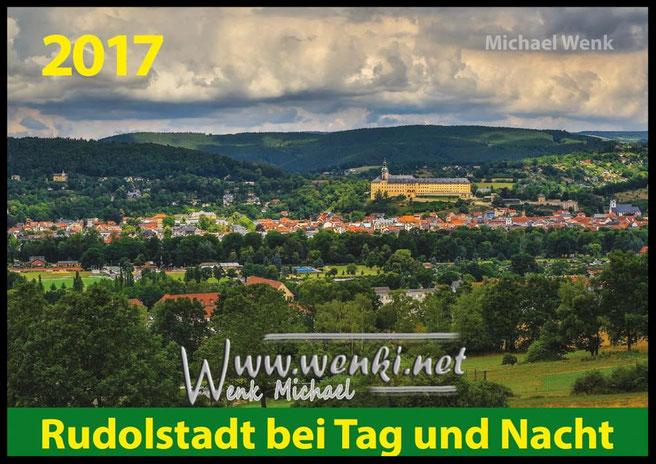 Blick zur Heidecksburg.  Sie wacht über Rudolstadt. Das perfekte Geschenk aus der Heimat Rudolstadt.