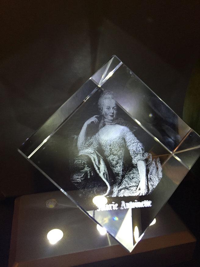 Marie-Antoinette au coeur du verre (pan coupé)
