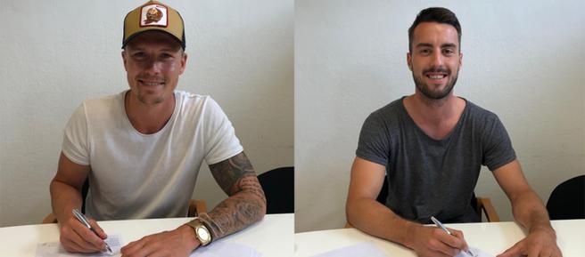 Die beiden Verteidiger Bjarne Thoelke und Fabio Strauss haben ihr Engagement bei Admira Wacker verlängert