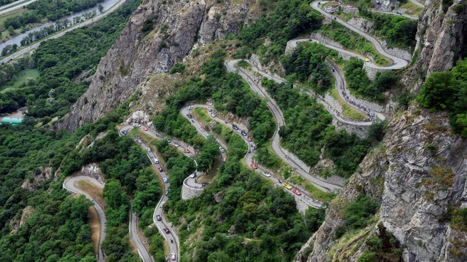 Die spektakulären Spitzkehren von Montvernier wurden erstmals 2015 erklommen.