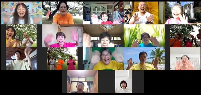 2020年8月8日松阪市鈴の森公園笑いヨガ(ラフターヨガ) オンライン