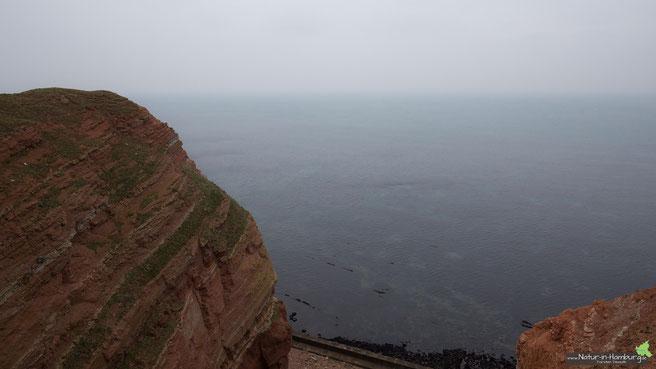 Blick von der Westklippe auf die Nordsee