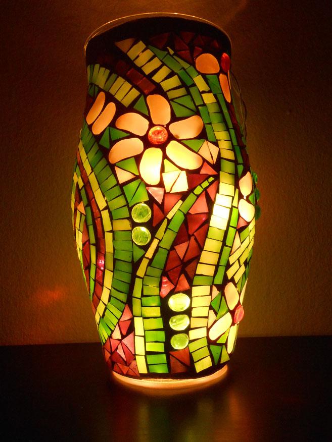 Mosaikvase oder Windlicht