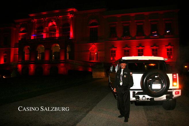 V.I.P. Hummer-Stretchlimousine in Österreich ---Casino in Salzburg