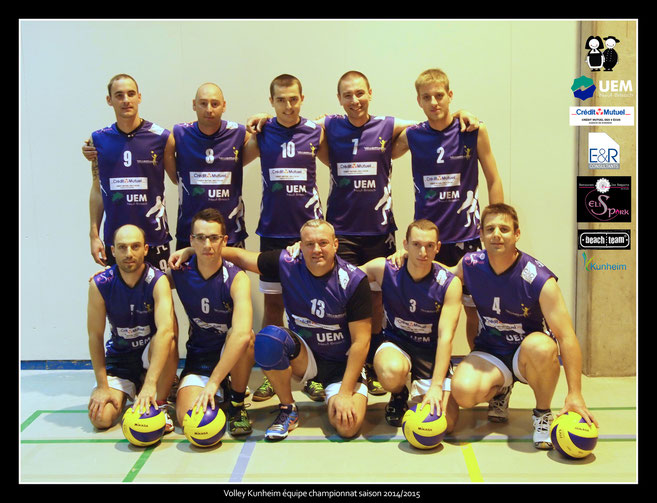 Club de Volley Kunheim - Saison 2014/2015 - Equipe championnat