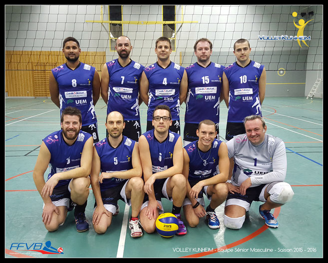 Club de Volley Kunheim - Saison 2015/2016 - Equipe championnat