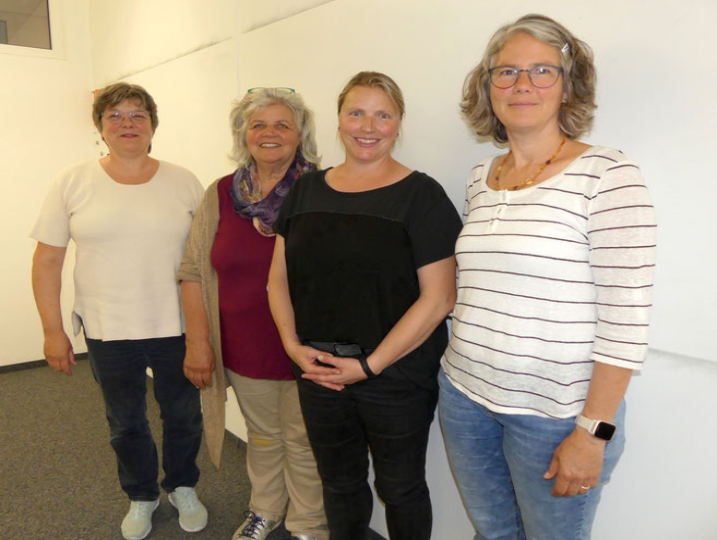 Vorstand Verein Spielgruppen Aargau: v.li. Monika, Silvia, Sibylle und Barbara