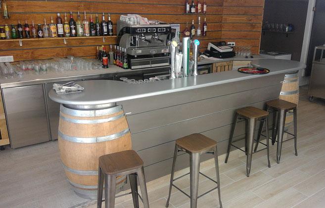 Comptoir Bar Tonneaux ( St BRES)