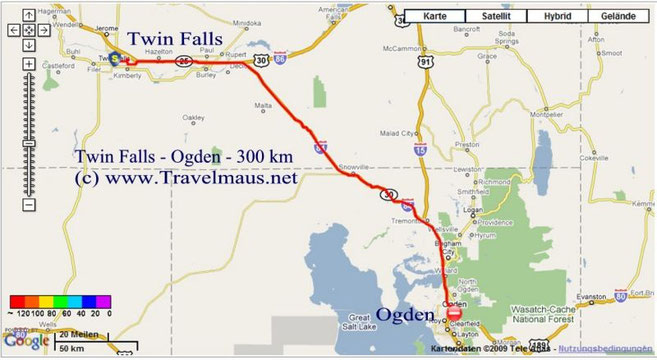10.6.2009 Twin Falls - Ogden 300 km