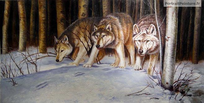 portrait-peinture-hyperrealisme-loup-animal