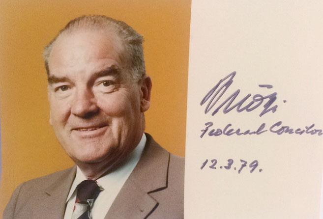 Autograph Rudolph Gnägi Autogramm