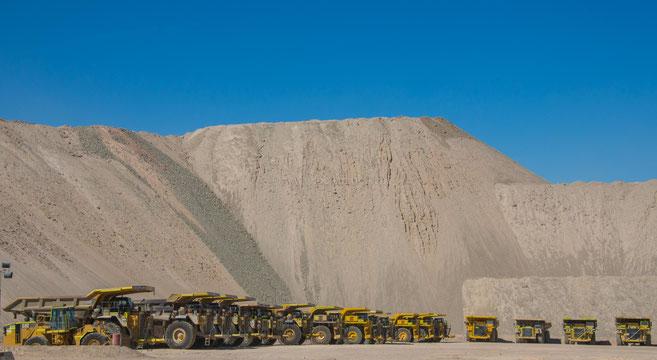 Minenfahrzeuge für Chuquicamata