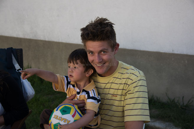 Alex mit Sohn Sebastien