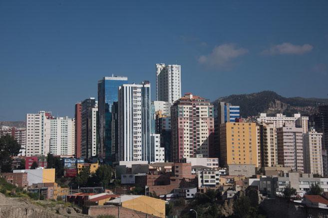 Die feine Gegend La Paz's