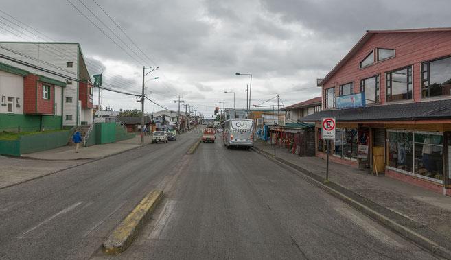 Isla Chiloé Hafenstadt Ankunft vom Pepamobil