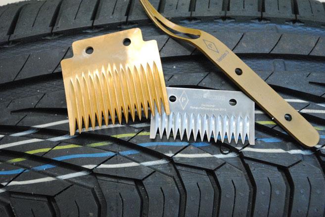 veredelte Messer für die Reifenherstellung