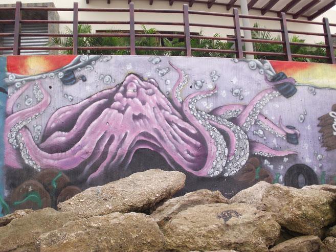 streetart Puerto Lopez octopus