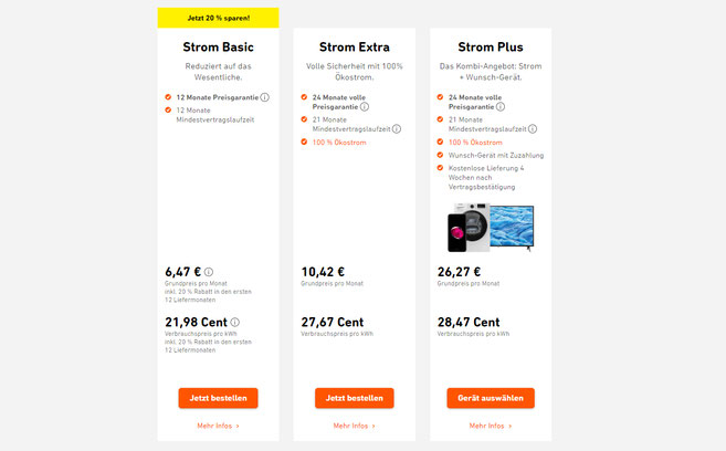 Jetzt bis zu 20% Rabatt auf YELLO Strom Basic-Tarife ...