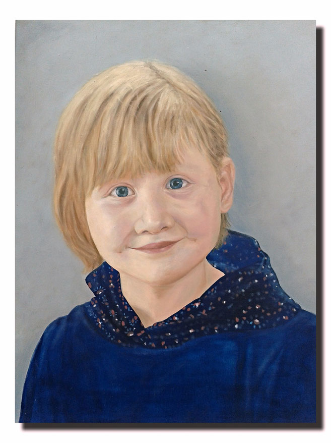 "Portrait ""Paula""; Öl auf Leinwand; Maurice Küsel 2014"