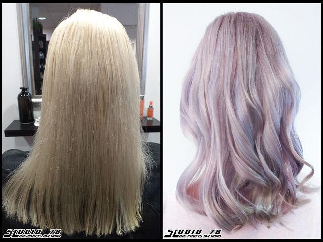 Coloration Haarfarbe blonde yestoblonde haircolor blondehair nudeblond opalessence metallicpink rosehair pastellblonde
