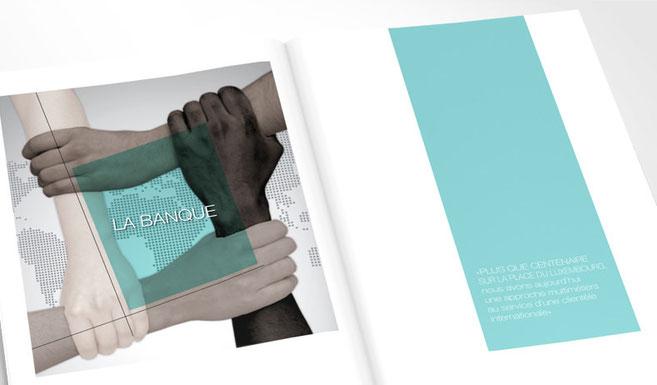 LSZ Communication - Graphiste - Directrice artistique freelance Nantes - #lepetitoiseaudelacom - Société générale Luxembourg - Banque - Rapport d'activité