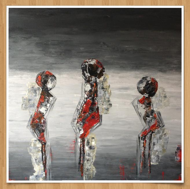 Drillinge  120 x 120cm  Acryl auf Leinwand  -verkauft-