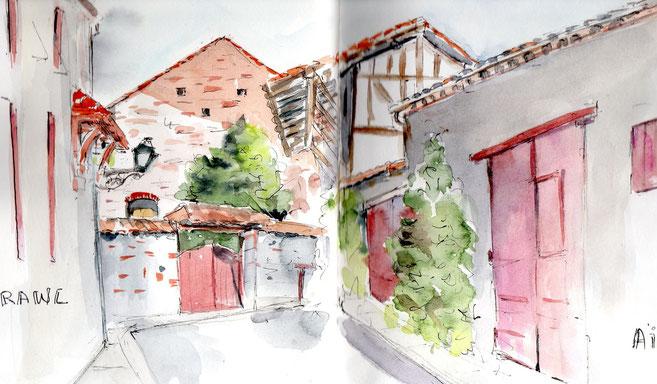 Rue médiévale Aiguillon