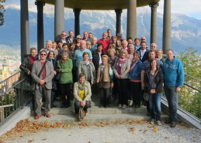 Die Teilnehmer des Vereinsausfluges am Berg Isel