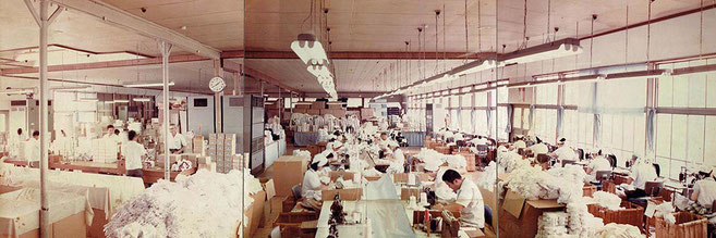 kineya tabi factory in 1975