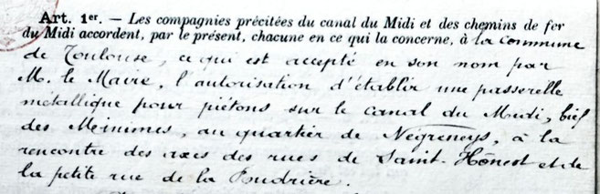 Document, signé par Honoré Serres en 1892